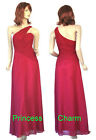 Size 6 8 10 12 Cherry Red Bridesmaids Evening Dress New