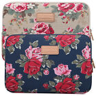 Peony Canvas Laptop Case Bag Notebook Cover Sleeve Pouch For Macbook 11 13 15