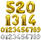 Внешний вид - FOIL NUMBER BALLOON 40 INCH LARGE HELIUM NUMBER BALLOON 0-9 IN GOLD AND SILVER