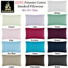 1 Pce of  Easy Care  Polyester Cotton Standard Pillowcase 48 x 73cm