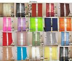 6 Piece Sheer fully stiched Voile Window Curtain Panel drapes-15 colors