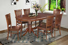 "SOMERVILLE DINING KITCHEN TABLE SET 42""X78"" W/. WOODEN SEATS IN ESPRESSO FINISH"