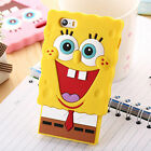 3D Cartoon Silicone Soft Case Cover For iPhone 4/4S 5/5C/S 6/6+ Huawei/Htc/Sony