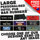 PERSONALISED BAR RUNNER beer mat drip mat cocktail pub club gift birthday gift