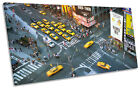 Times Square New York City Aerial PANORAMA BOX FRAME CANVAS ART Print