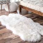 nuLOOM Hand Made Shag Quatro Sheepskin with Faux Backing White Wool Sale Rug