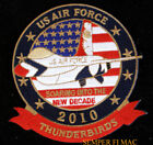 2010 US AIR FORCE THUNDERBIRDS USAF PATCH NELLIS AFB AIRSHOW PIN UP US FLAG WOW