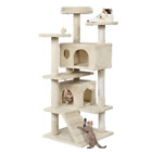 130 cm Cat Tree Tower Post Toy Condo Scratching Post Pet House Activity