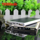 New 100000mAh Dual USB Portable Solar Battery Charger Power Bank For Cell Phone