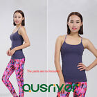 Sexy Running Workout Sports Singlet Women's Yoga Tank Top Active Top Purple