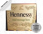 Hennessy cognac edible birthday cake and cupcake toppers - can be personalised