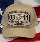 US MARINES MOS 0311 RIFLEMAN HAT VETERAN GRUNT FMF PIN UP MAR DIV M16 M14 WOWMH