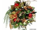 Christmas Holiday Wreath Fruit Williamsburg Bling Prelit Fruit Red Lime Custom