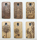 New Real Natural Wood Block Wooden Hard Case Cover For Various Samsung Phones