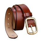 "Hot Retro Cool brass buckle Mens Belt Genuine Leather Casual Belt Waist 30""-42"""