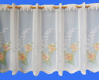 DAFFODIL CAFE NET CURTAIN - JACQUARD LACE  - SOLD BY THE METRE - CUT TO WIDTH