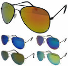 Kids Aviator Sunglasses Revo Lens Boys Girls Retro 80s UV400 Fashion Shades