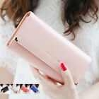 New Fashion  Lady PU Leather Wallet Case Long Handbag Card Holder Purse