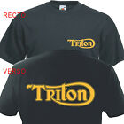 T-shirt TRITON - Triumph Norton Vintage Custom Motorcycle  Cafe Racer Moto Retro $18.83 CAD on eBay