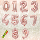 16'/30' gold Letter Number blue Balloon Wedding Baby rose pink foil Birthday