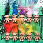 KITSCH CUTE KAWAII RETRO TOY 80S 90S MINI LUCKY TROLL DOLL CARTOON NECKLACE