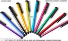 STYLUS w/clip 3.5mm touch capacitive FOR apple iphone 6 5 5c 4s & samsung galaxy