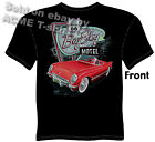 53 54 55 Corvette T Shirt 1953 1954 1955 Chevy Tee Route 66 Motel M L XL 2XL 3XL