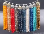Czech Crystal Rhinestones Tassel Trim Applique Jewelry Making Pendant Necklaces