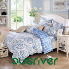 Single/Double/Queen/King Bed Sets Quilt Cover Flat Pillowcases Leave Pattern