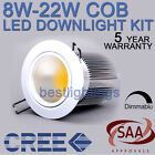 10 X CREE LED COB DIMMABLE CEILING DOWNLIGHT COMPLETE KIT FIXTURE FITTING SAA