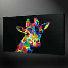 GIRAFFE ABSTRACT CANVAS PRINT PICTURE WALL ART FREE UK DELIVERY VARIETY OF SIZES