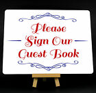 Red And Blue Wedding Guest Book Metal Plaque Sign