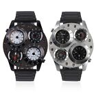 Sweibao J1145 Stainless Steel Dual Time Compass Thermometer Quartz Watch