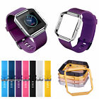 Frame Soft Silicone Watch band Replace Sport Strap For Fitbit Blaze Smart Watch