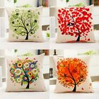 1PC Life Tree Series Square Cushion Cover  Linen Pillow Case Car Sofa Throw HOT
