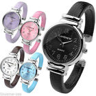 New Women Girl Candy Color Casual Quartz Analog Wrist Watch Bracelet Bangle Cuff