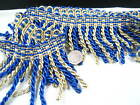 blue 8cm Fringe Tassel Trim Upholstery Curtain lamp trimmings bag costum trims
