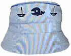 Baby Toddler Nautical Design Bush Hat Boat & Whale Boys Girls Summer Cotton Cap
