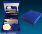 Contact Lens Travel Kit Case ~ Blue ~ Mirror Tweezers & Lenses Solution Set