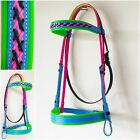 PVC Bridle -Black/Pink/Blue/Green - Mac Tack - BEST Quality