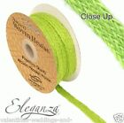 Full Roll Natural Woven Hessian Ribbon 10m - Apple Green, Craft Vintage Wedding