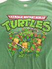 Teenage Mutant Ninja Turtles graphic t-shirt men sz XL green TMNT nickeldeon