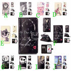 Embossment Effect Wallet Case For iPhone Samsung Synthetic Leather ID Card Cover