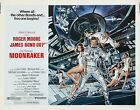 MOONRAKER Movie Silk Fabric Poster James Bond 007 Roger Moore $10.58 CAD on eBay