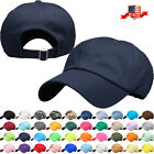 Solid Plain Washed Dad Hat Cotton Polo Style Baseball Ball Cap NEW