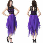 New Asymmetrical Hem lace chiffon Short cocktail  Evening Prom ball Party Dress