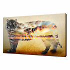 TIGER SUNSET WALL ART CANVAS PRINT PICTURE DESIGN VARIETY OF SIZES AVAILABLE