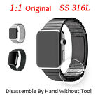 Link Bracelet 316L Stainless Steel Watch Strap 1:1 Original Band For Apple Watch