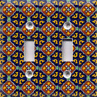 Talavera Blue & Gold ~Light Switch Cover~Home Decor~Choose Your Plate~