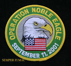 OPERATION NOBLE EAGLE 9-11-2001 HAT PATCH US NAVY AIR FORCE MARINES ARMY PIN USA